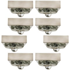 1 of the 8  Hand Blown Wall or Ceiling Lights, Doria, 1970