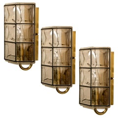 1 of the 8 of Iron and Bubble Glass Sconces Wall Lamps by Limburg, Germany, 1960