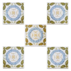 1 of the 90 French Art Deco Tiles, circa 1930