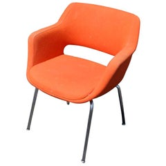 1 Orange Martela Kilta Armchair by Olli Mannermaa