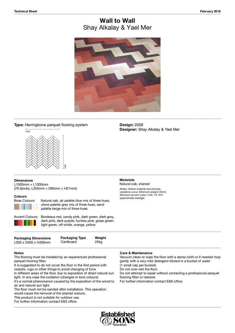 1 Panel, Wall to Wall, Colored Flooring by Raw Edges for Established & Sons For Sale 2