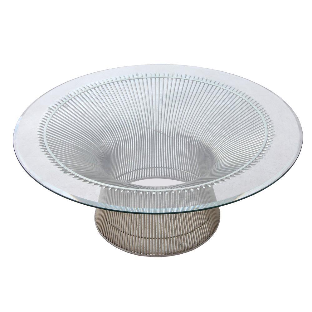 1 Platner Coffee Table Designed by Warren Platner for Knoll