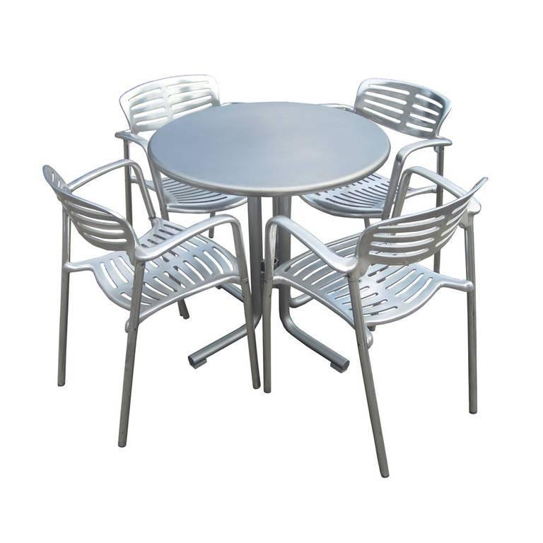 Mid-Century Modern 1 Restored Polished Aluminum Toledo Chair Designed by Jorge Pensi for Knoll For Sale