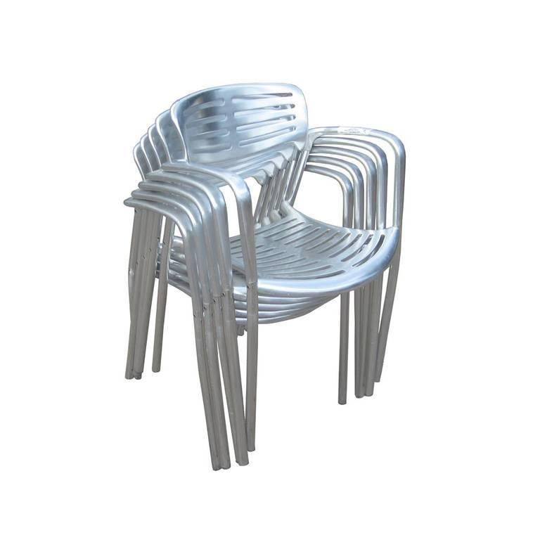 Spanish 1 Restored Polished Aluminum Toledo Chair Designed by Jorge Pensi for Knoll For Sale