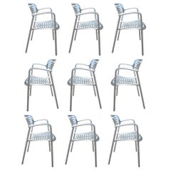 1 Restored Polished Aluminum Toledo Chair Designed by Jorge Pensi for Knoll