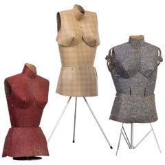 1 Set of Three Colorful Decorative Dressing Dolls/Model, 1960s, Set of 3