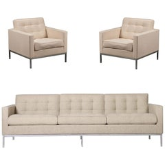 1 Sofa and 2 Armchairs Florence Knoll International, 5 Places