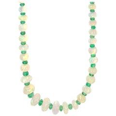 Goshwara Opal and Emerald Beads Necklace