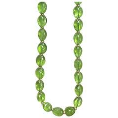 Goshwara Peridot Bead Necklace