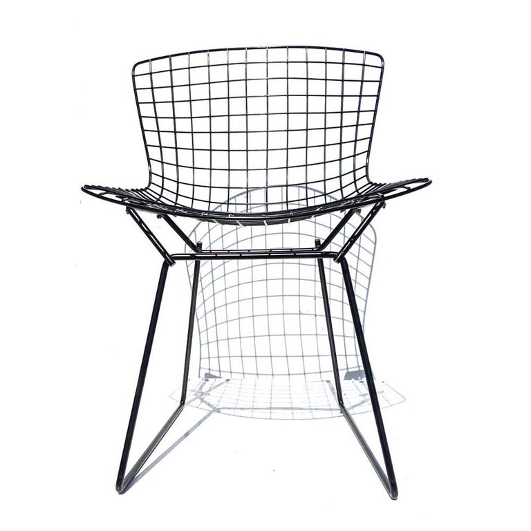 Original welded black mesh frames by Harry Bertoia for Knoll International.  33 available.    Cushions available.
