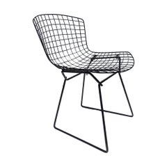 1 Vintage Harry Bertoia for Knoll Black Side Chair 32 Available