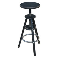 '1' Vintage Industrial Adjustable Bar Stool