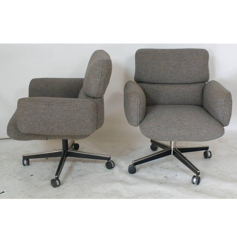 Mid-Century Modern 1 Vintage Knoll Zapf Vintage Executive Low Back Armchair