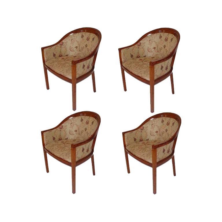 1 Ward Bennett For Brickel Fabric Upholstered Arm Chair