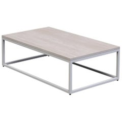 "1 x 1 Coffee Table 42"", White Washed Ash"