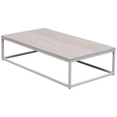 "1 x 1 Coffee Table 60"", White Washed Ash"