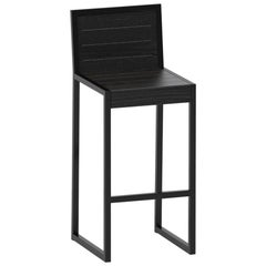 Counter Stool in Black Oak