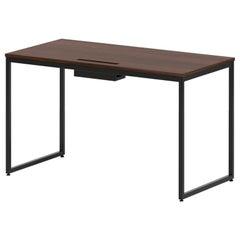"""1 x 1 Desk 56"""", Walnut"""