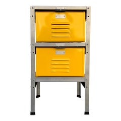 1 x 2 Locker Basket Unit in Yellow Ochre, Newly Fabricated to Order