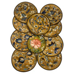 10 Antique Chinese Embroidered Silk Roundels