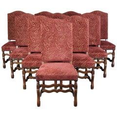 10 Arte De Mexico Oak & Paisley Tuscan Spanish Revival Dining Chairs Nailhead