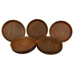 10 Bob Stocksdale Black Walnut Plates, 1985