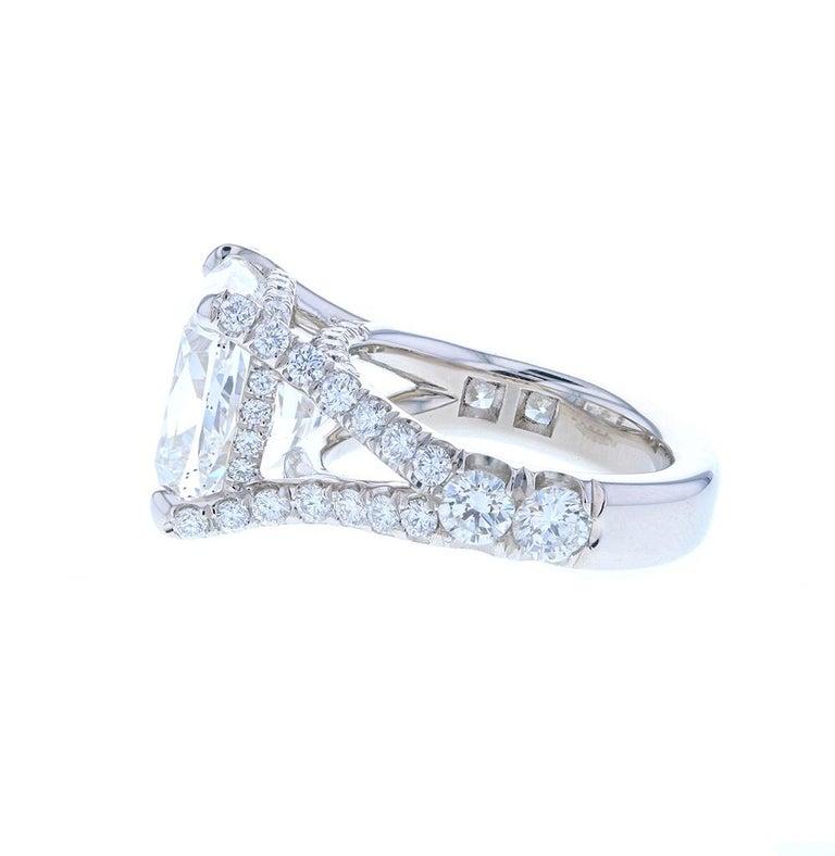 Women's or Men's 10 Carat Cushion Cut Diamond Engagement Ring Platinum Hidden Halo For Sale