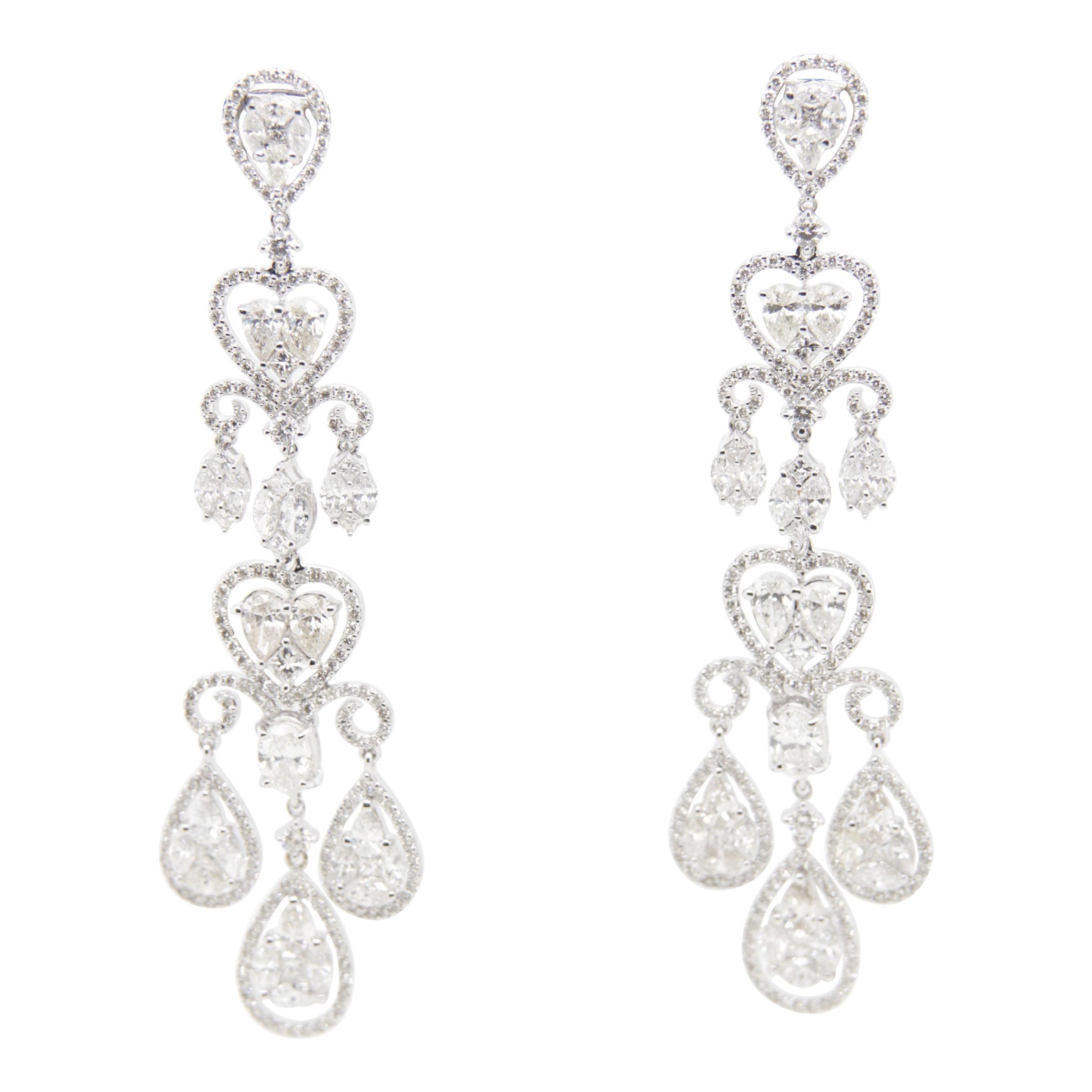 10 Carat Diamond Earring in 18 Karat Gold