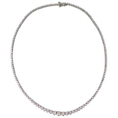 10 Carat Diamond Tennis Necklace