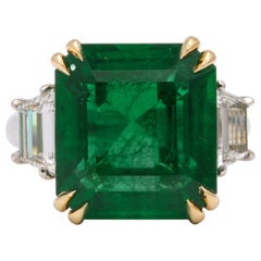 10 Carat Emerald and Diamond Ring
