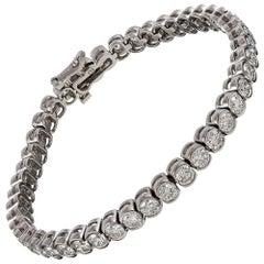 "10 Carat ""Half Bezel"" Set Diamond Tennis Bracelet"