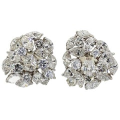10 Carat Mixed Cut Diamond Ear Clips