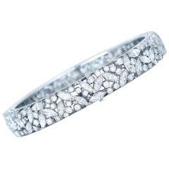 10 Carat Multi Diamond Cuff Bracelet