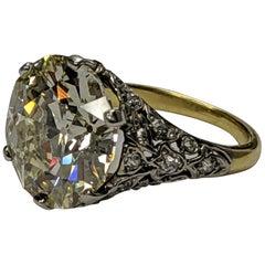 10 Carat Old European Round Diamond Ring VVS2 'GIA' Engagement or Anniversary