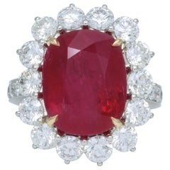10 Carat Ruby and Diamond Cocktail Ring