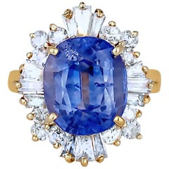 10 Carat Sapphire and Diamond Ballerina Ring