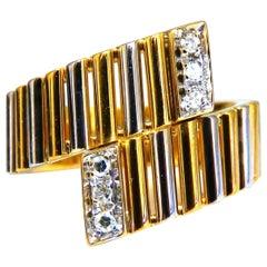 .10 Carat Tubular Round Cut Diamond Ring 18 Karat H/vs2