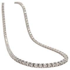 10 Carats Diamond Riviera Necklace