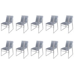 10 Chair in Lucite and Steel by Jacques Charpentier
