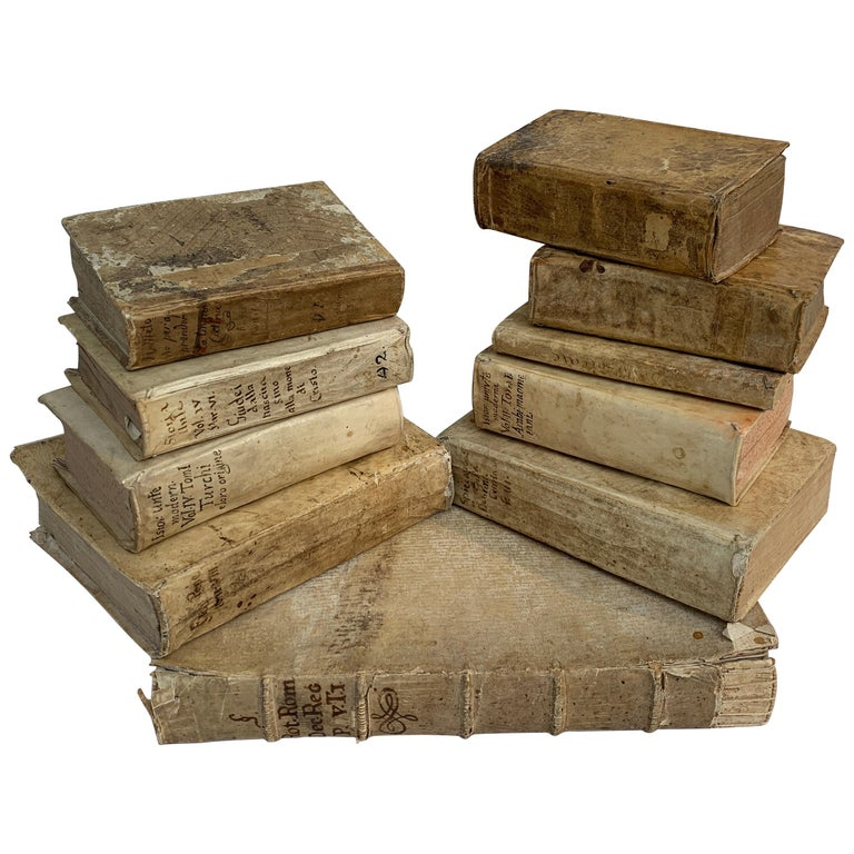 10 Early Vellum Books For Sale