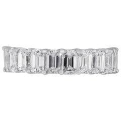10 Emerald Cut Diamond Band