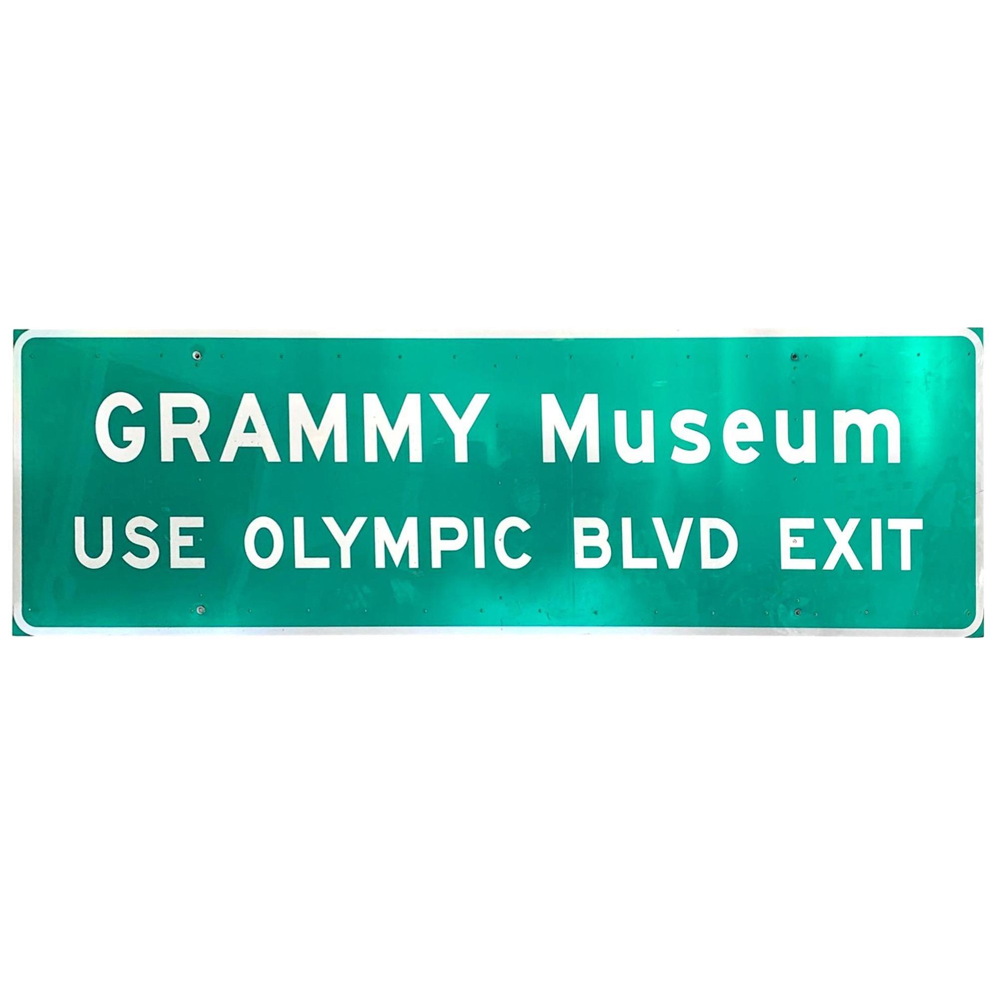 Grammy Museum Los Angeles Freeway Sign