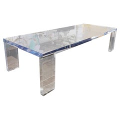 Custom Lucite Dining Table, Style Charles Hollis Jones