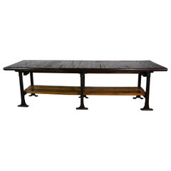 Long Industrial Table