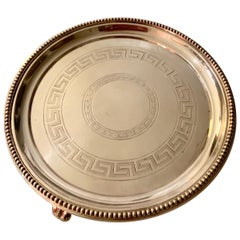 Silver Plate Greek Key Tray