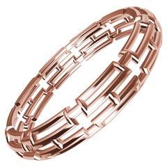10 Karat Pink Gold 20 Rectangles Bangle