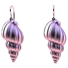 10 Karat Pink Gold Bulbous Shell Earrings