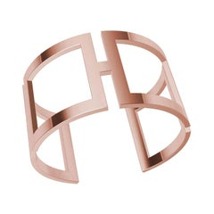 10 Karat Pink Gold Rectangle Cuff Bracelet