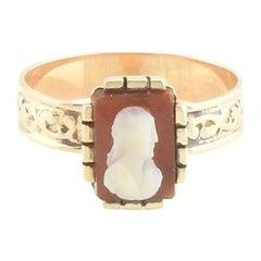 10 Karat Rose Gold Cameo Ring
