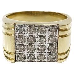 10 Karat Two-Tone Diamond Ring